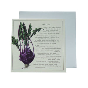 Kohlrabi Recipe Greeting card