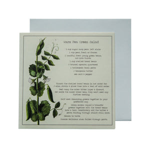 Warm Pea Green Salad Recipe Greeting card