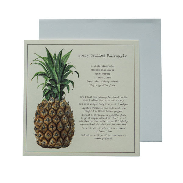 Spicy Grilled Pineapple Recipe Greeting card