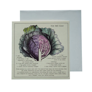 The Red Slaw Recipe Greeting card