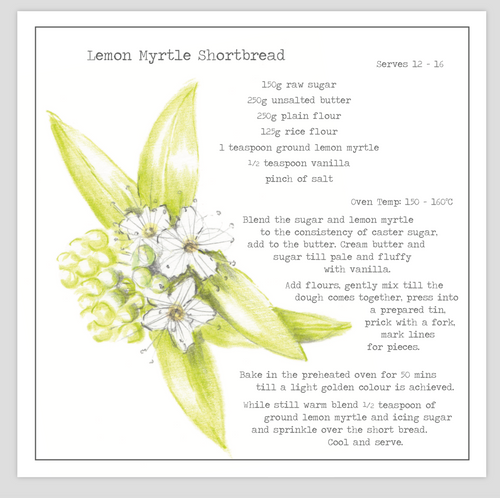 Lemon Myrtle Shortbread Recipe Greeting card