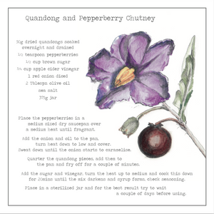 Quandong and Pepperberry Chutney