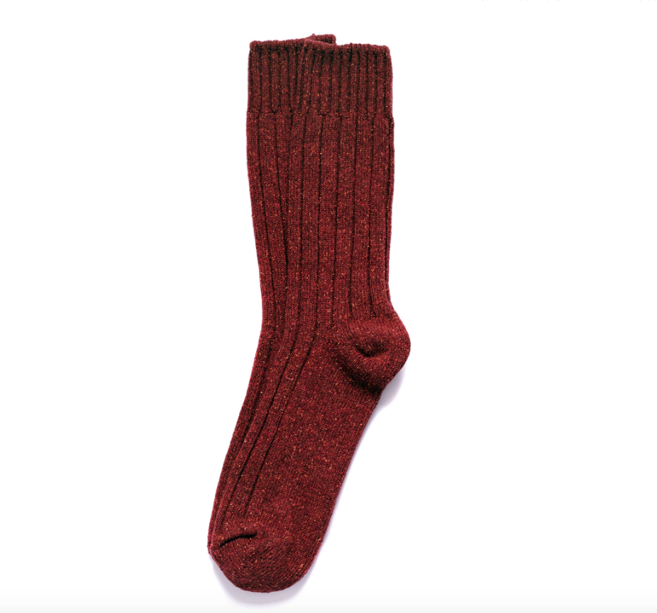 Wool Silk Boot Sock