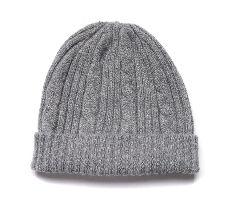 Women's Cable Knit Cashmere Beanie