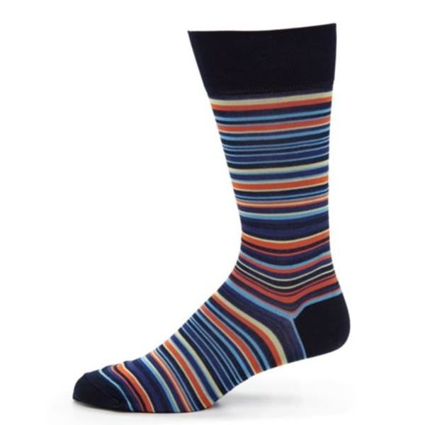 Socks - Lisle Sock Sorrento Stripe