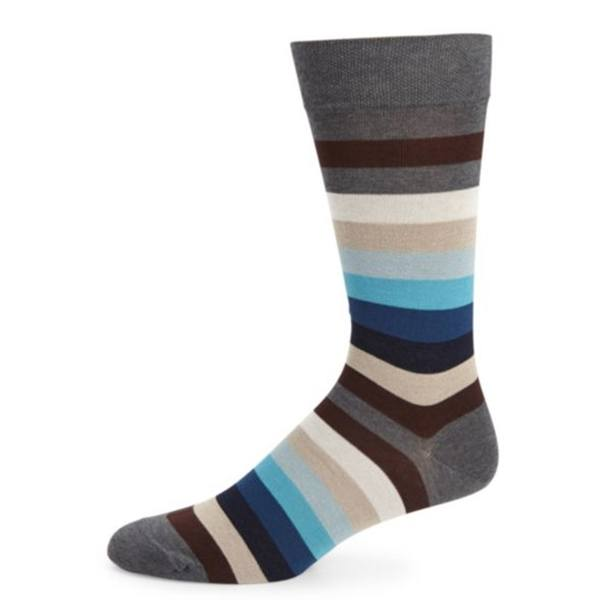 Socks - Pima Cotton Milano Stripe