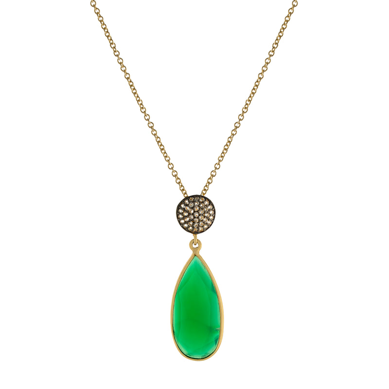 Round Teardrop Necklace