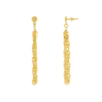 Multi Strand Singapore Chain Tassel Drop Earring