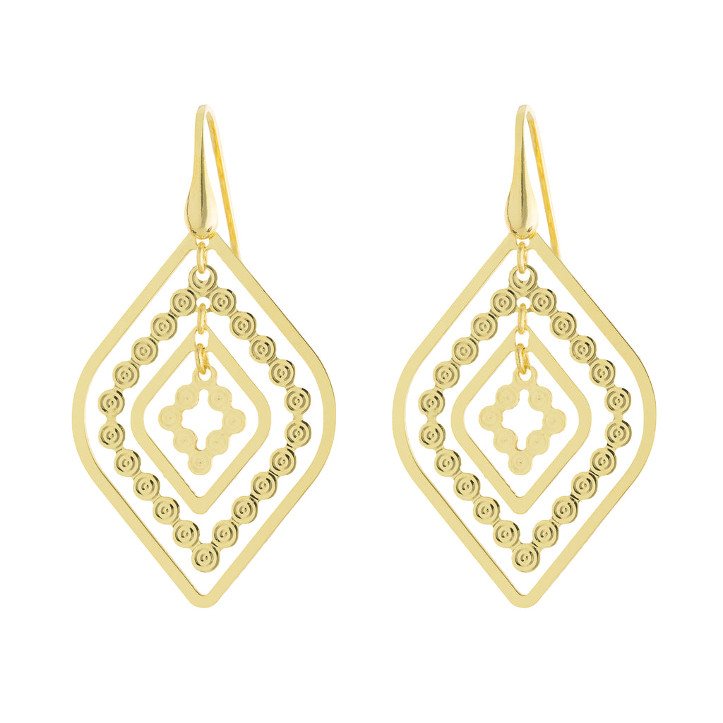 Multi Marqui Bead Drop Earring