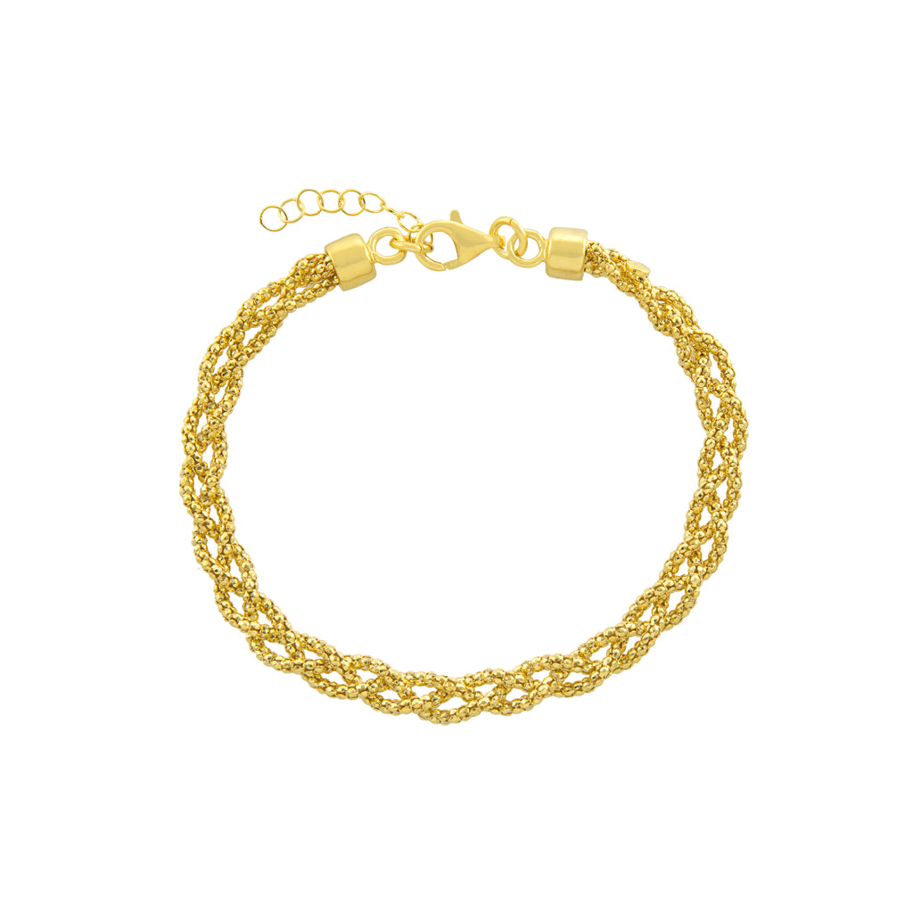 "7.25+1"" Braided Popcorn Adjustable Bracelet"