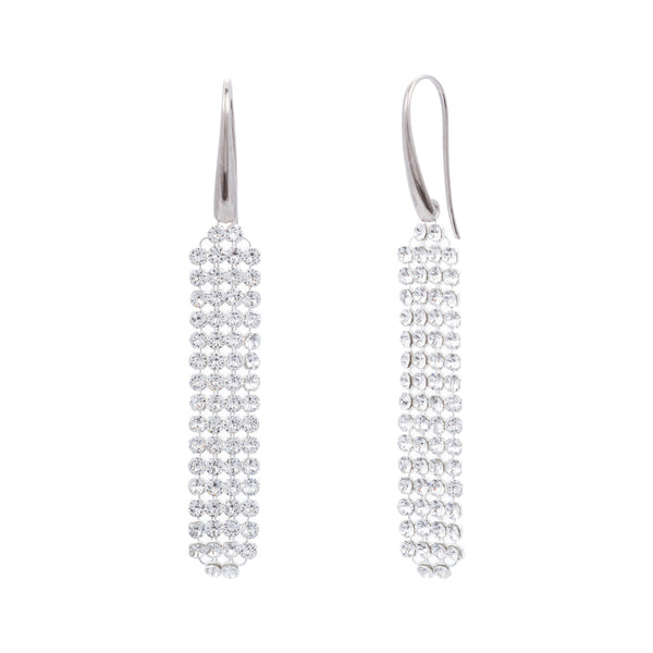 Clear Swarovski® Crystal Mesh Long Drop Earring