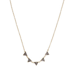 Black Diamond Crystal Multi Triangle Necklace