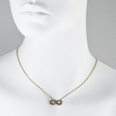 Black Diamond Crystal Infinity Necklace