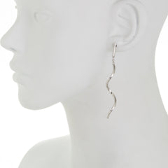 Wavy Twisted Bar Drop Earring