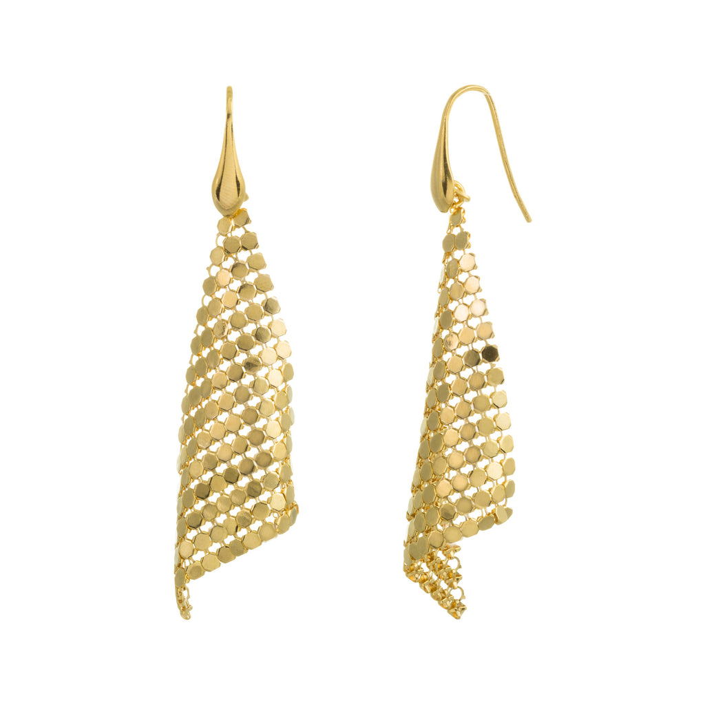 Triangle Mesh Drop Earring