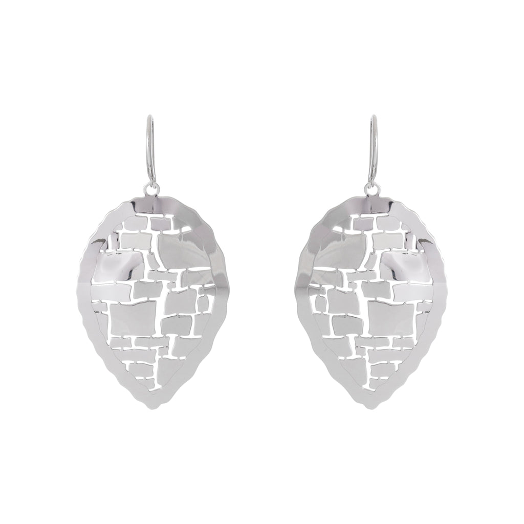 Abstract Reverse Teardrop Earring