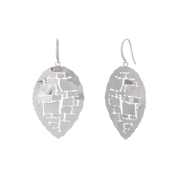 Abstract Reverse Teardrop Cut-Out Earring