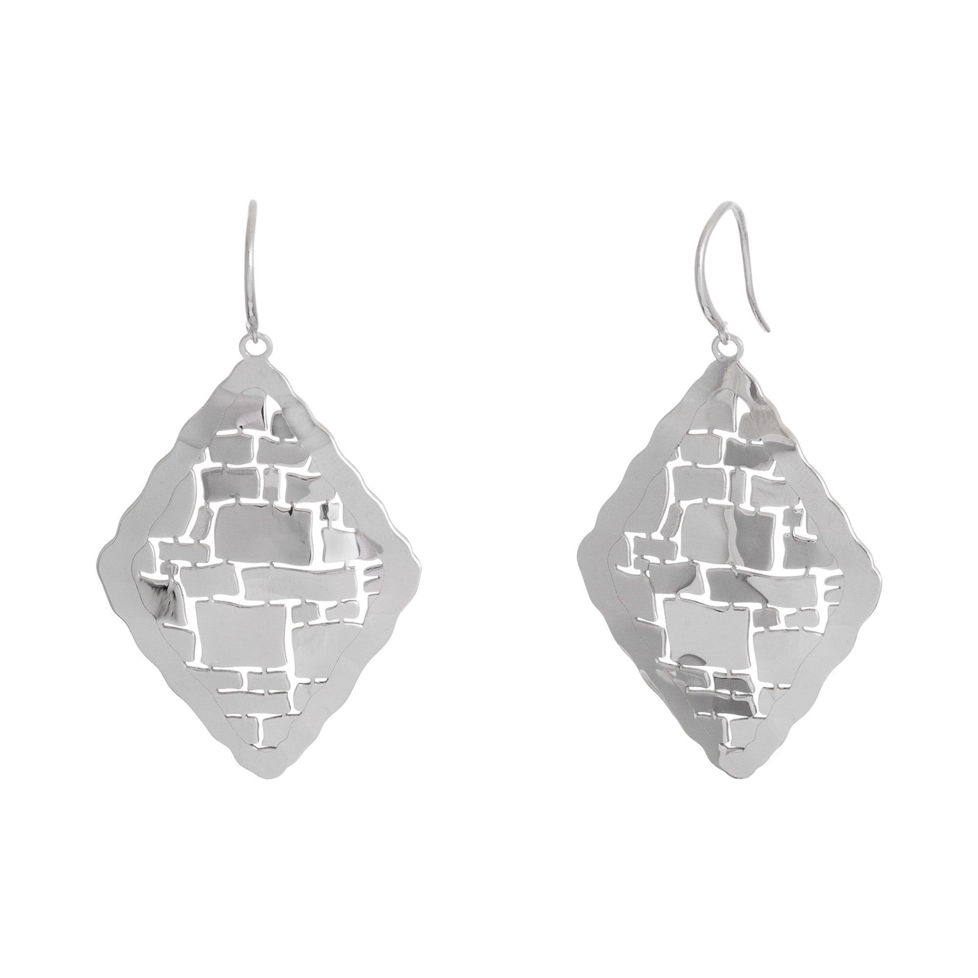 Diamond Shape Abstract Cut-Out Drop Earring