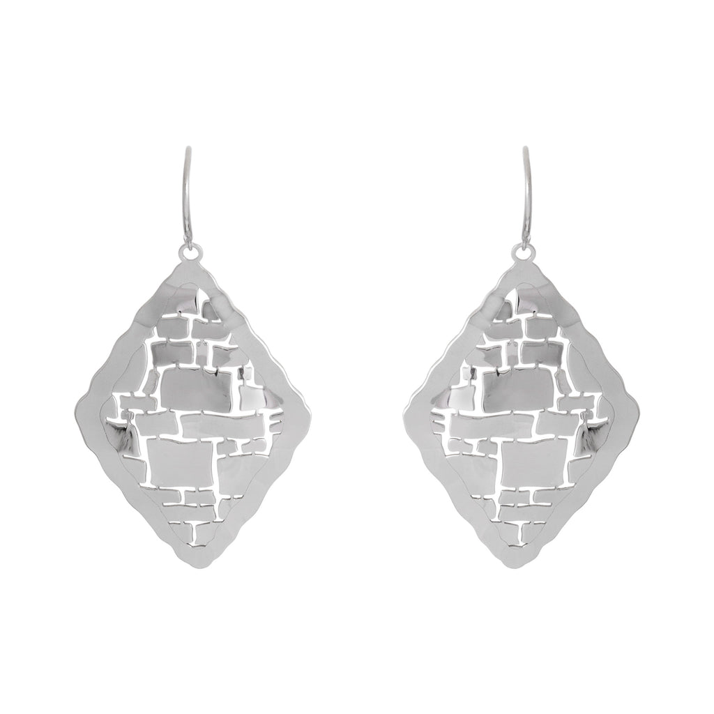 Diamond Shape Abstract Drop Earring