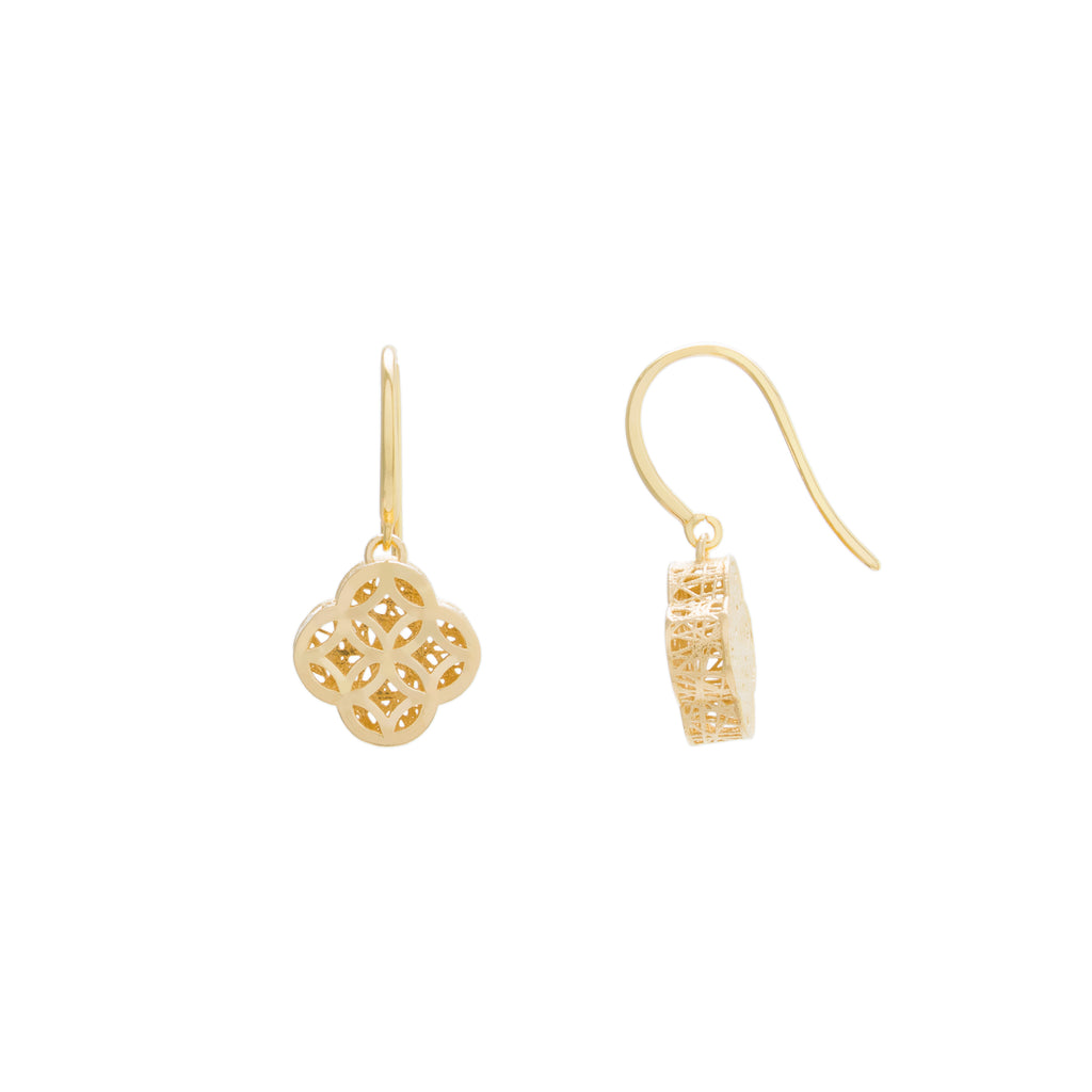 Filigree Flower Drop Earring