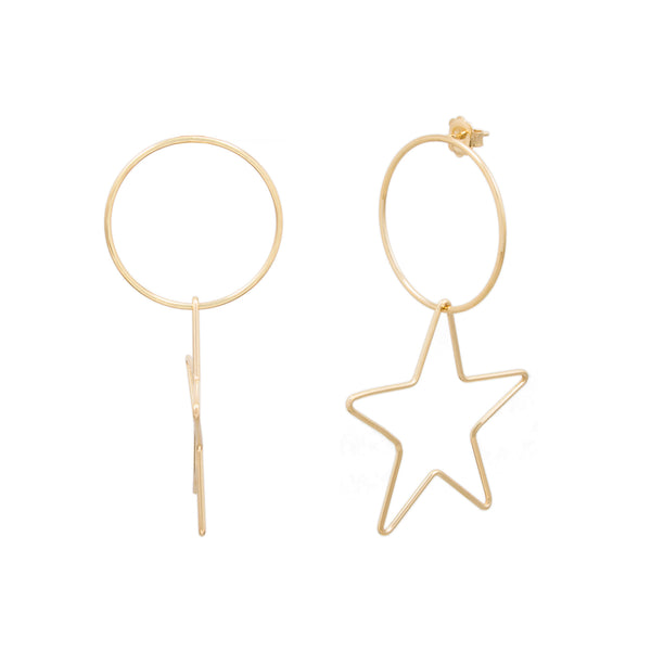Frontal Open Circle Star Earring