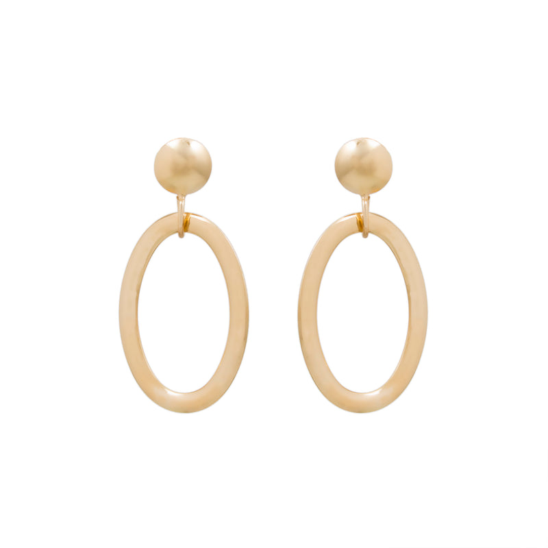 Open Oval Drop Earring