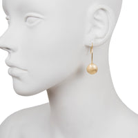 Wire Ball Drop Earring