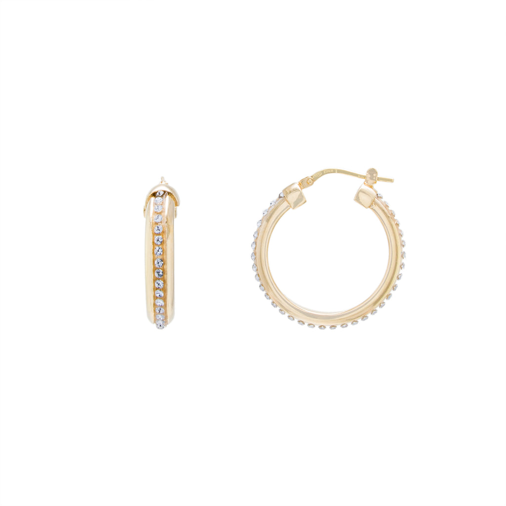 Gold Click Top Hoop Earring