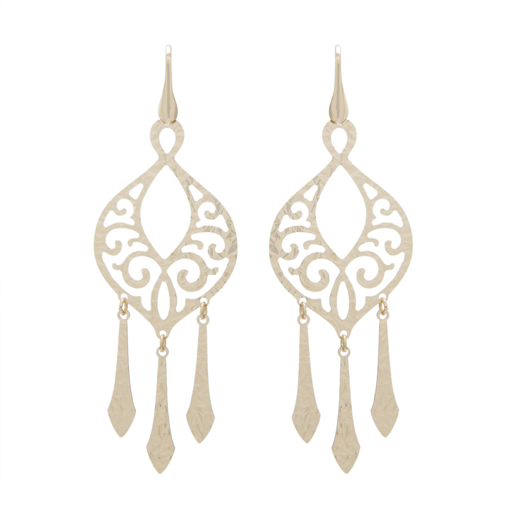 Filigree Chandelier Drop Earring