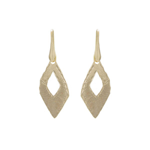 Open Marquis Diamond Cut Drop Earring