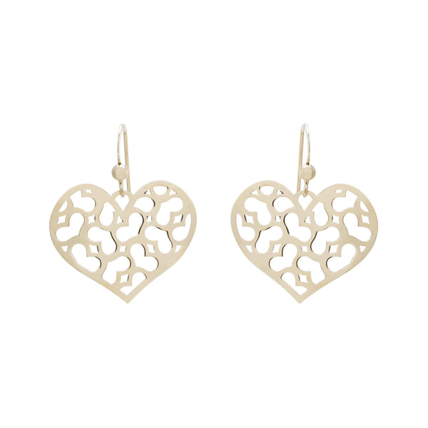 Cut Out Heart Drop Earring