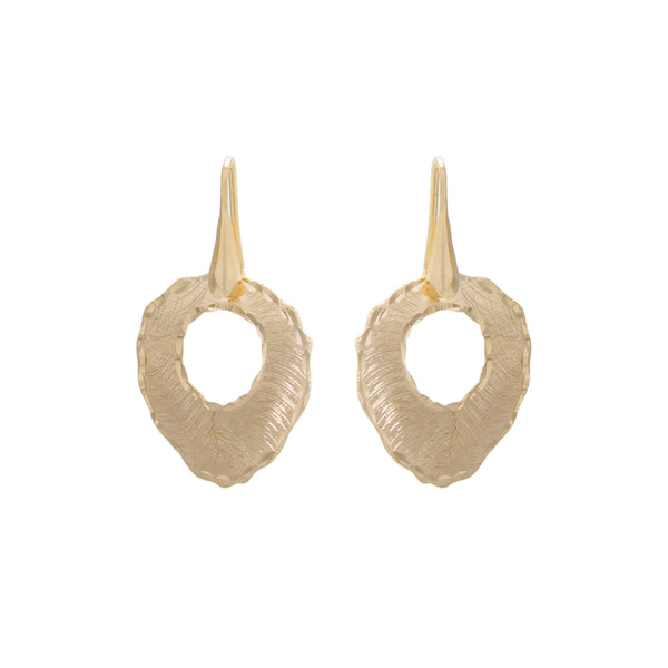 Diamond Cut Round Drop Earring