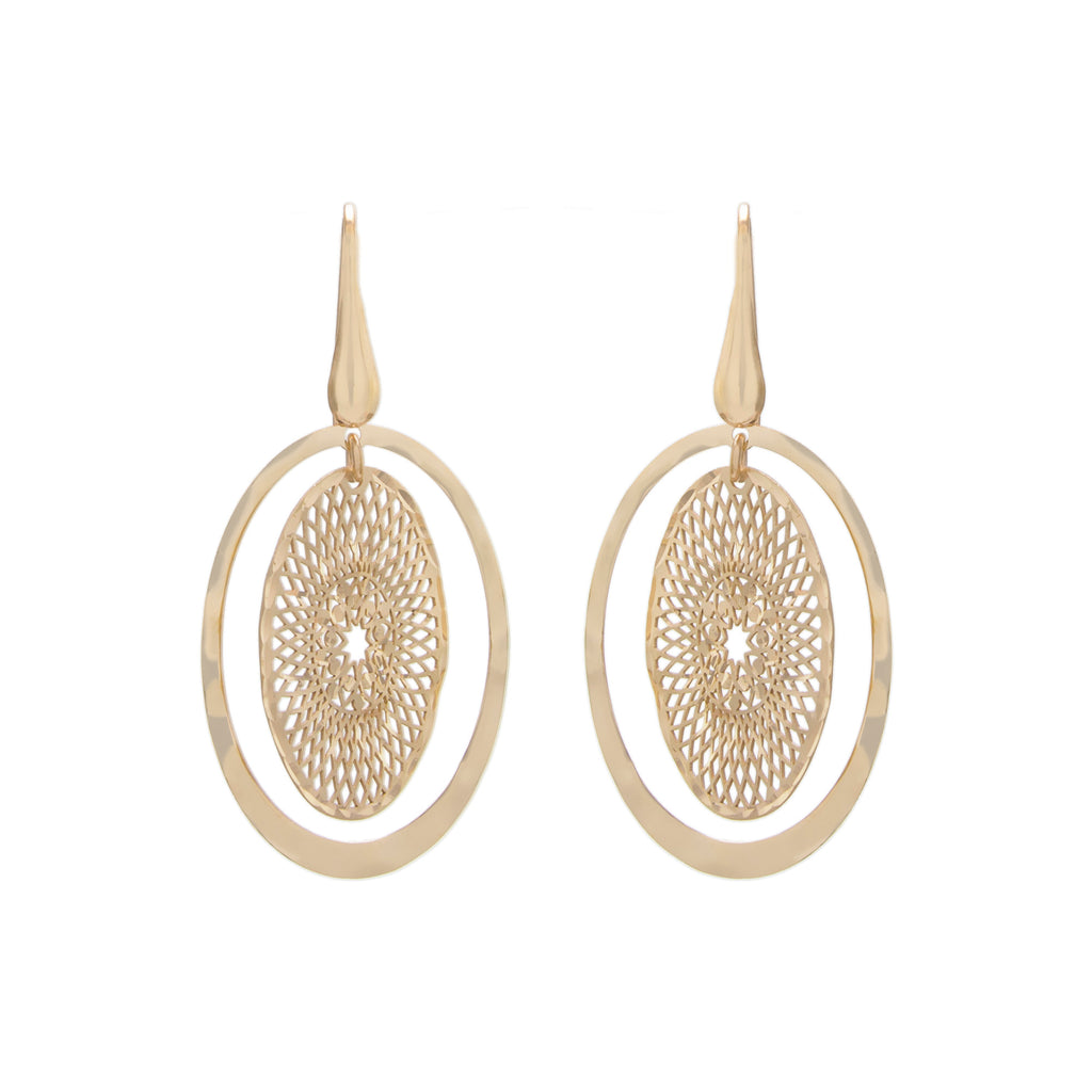 Double Oval Drop Earring
