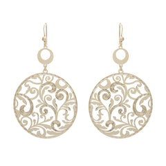 Circle Vine Drop Earring