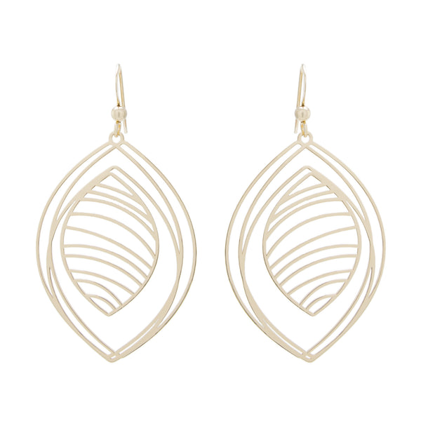 Multi Swirl Teardrop Earring
