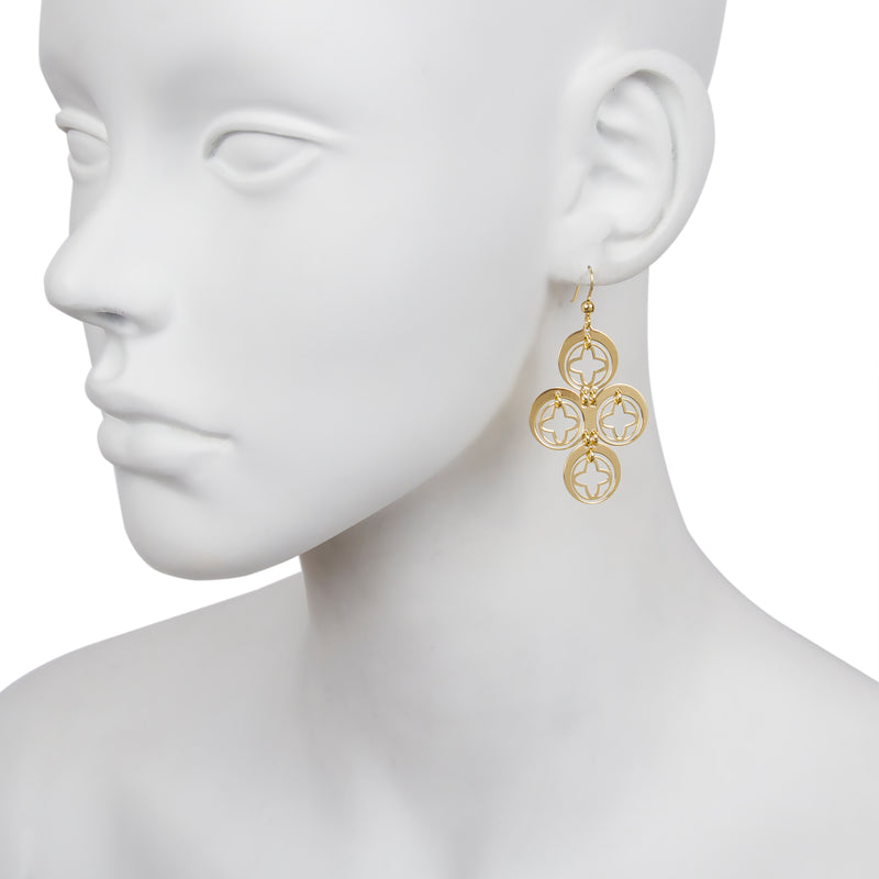 Multi Star Drop Earring