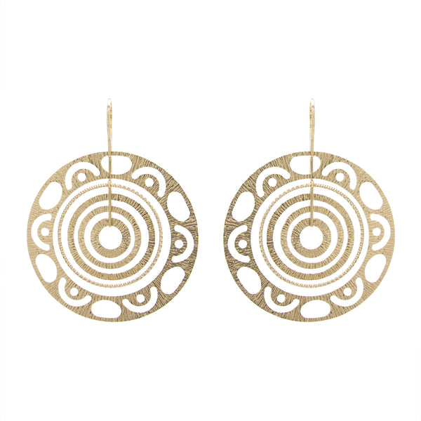 Matte Multi Round Drop Earring