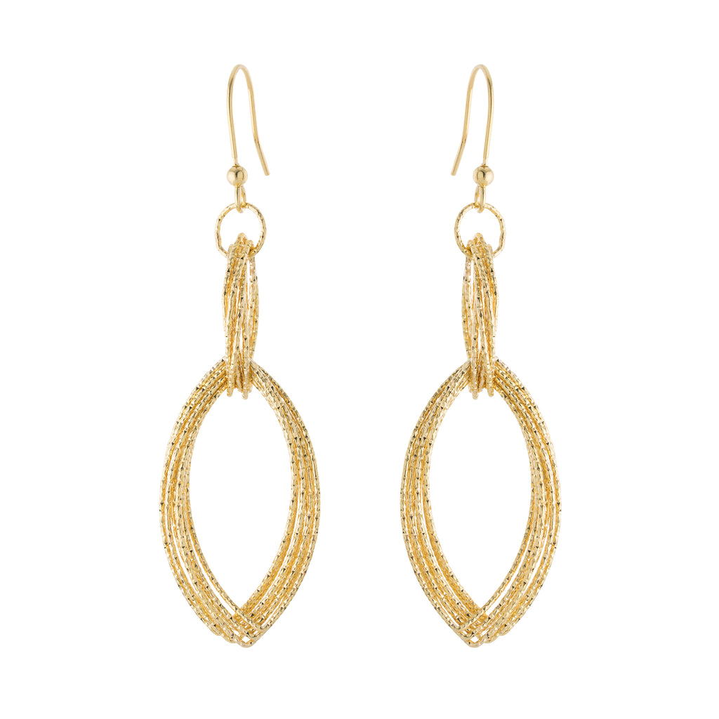 Multi Diamond Cut Double Drop Earring