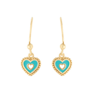 Heart Drop Earring