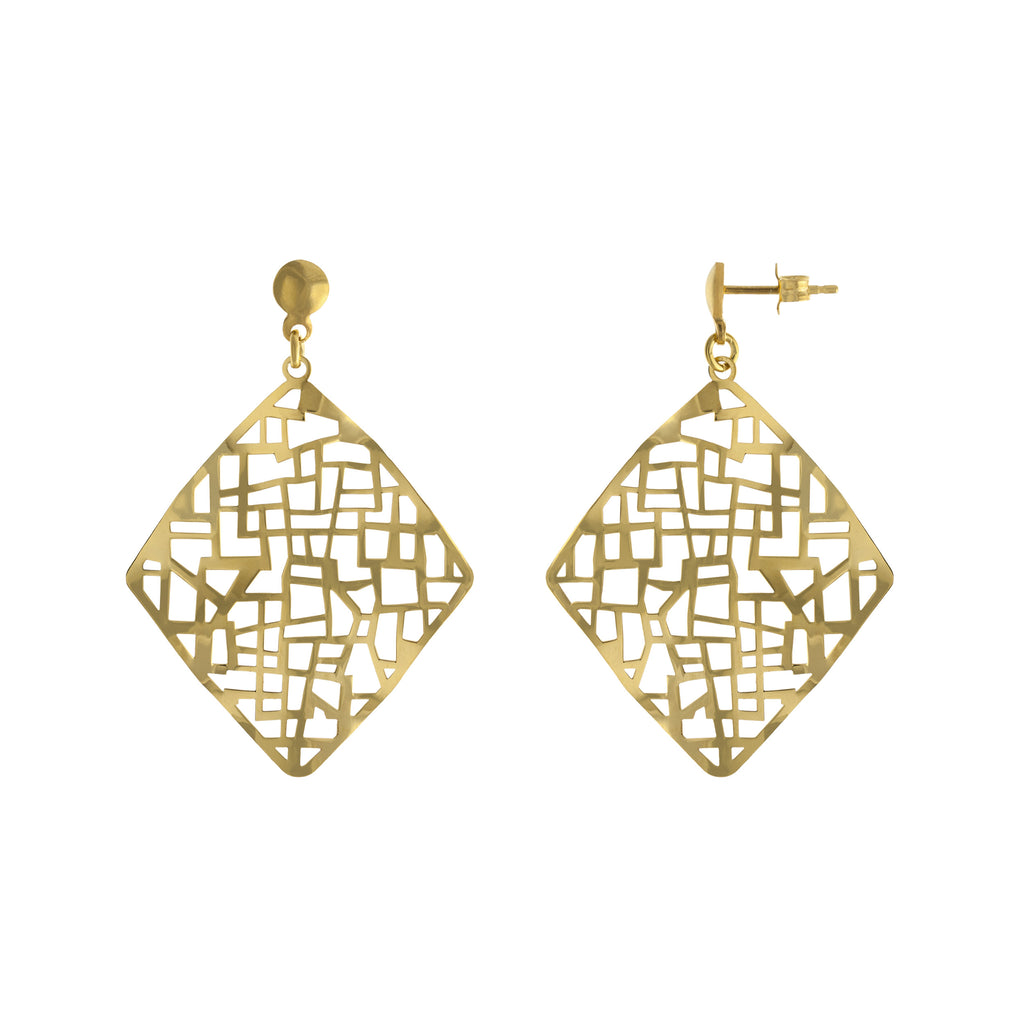 Cut Out Drop Earring
