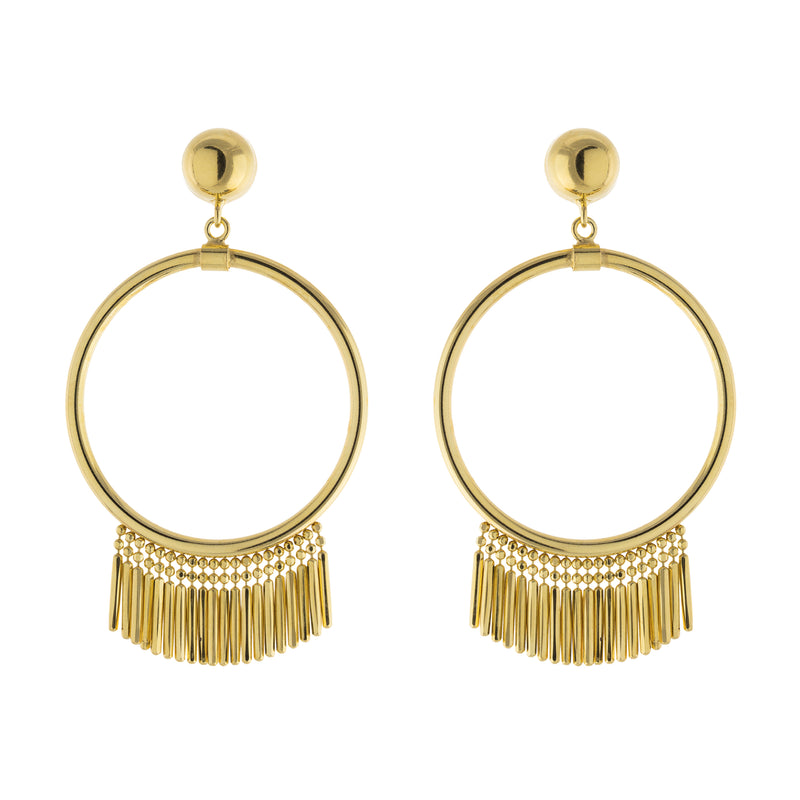Multi Bar Open Circle Drop Post Earring