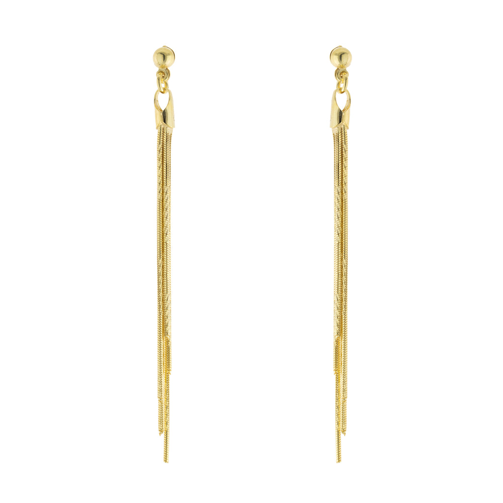Textured Multi Strand Drop Post Earring