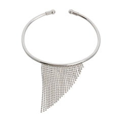 Graduated Diamond Cut Beaded Fringe Cuff