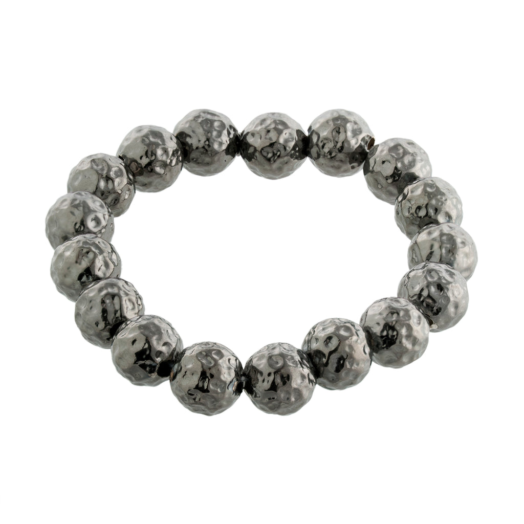 Hammered Ball Bracelet