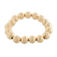 Gold Hammered Ball Bracelet