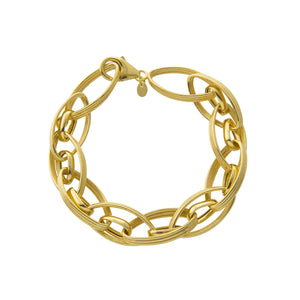 "7.5"" Textured Link Bracelet with Lobster Lock"