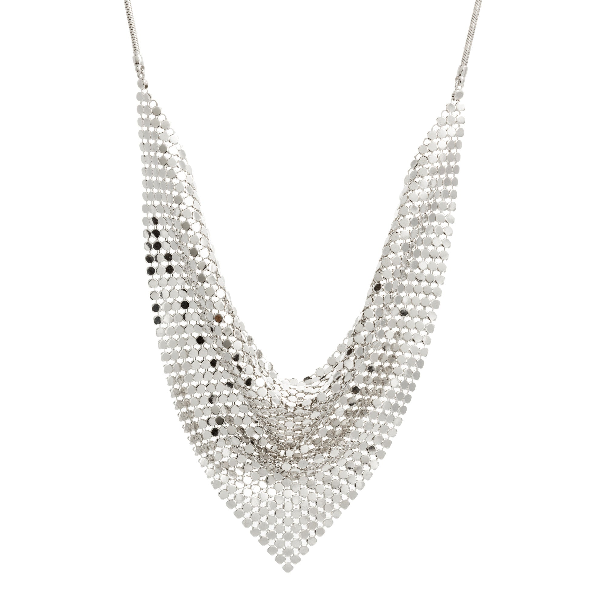 Large Triangle Mesh Necklace