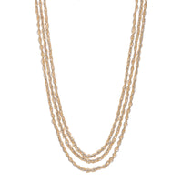 Two Tone Triple Strand Beaded Braided Mesh Necklace