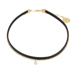 Synthetic Leather / Chain Choker