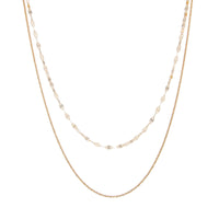Mirror Link Double Strand Necklace